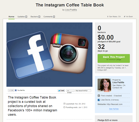 Instagram Coffee Table Book