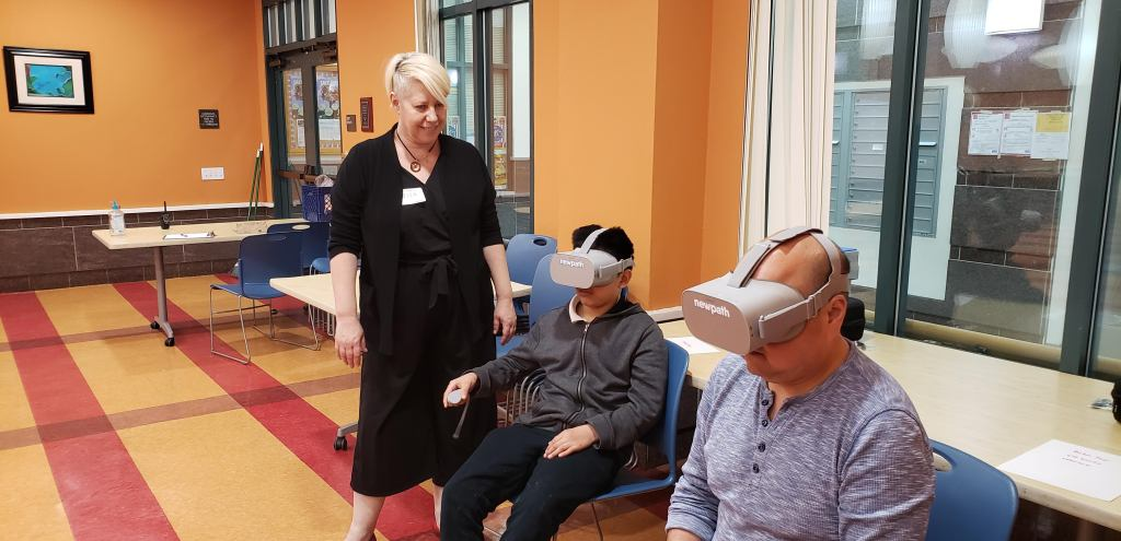 Lisa Padilla during NewPath's after school VR program with the San Francisco Boys and Girls Club (2019)